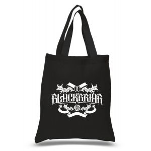 Blackbriar totebag with a white print.